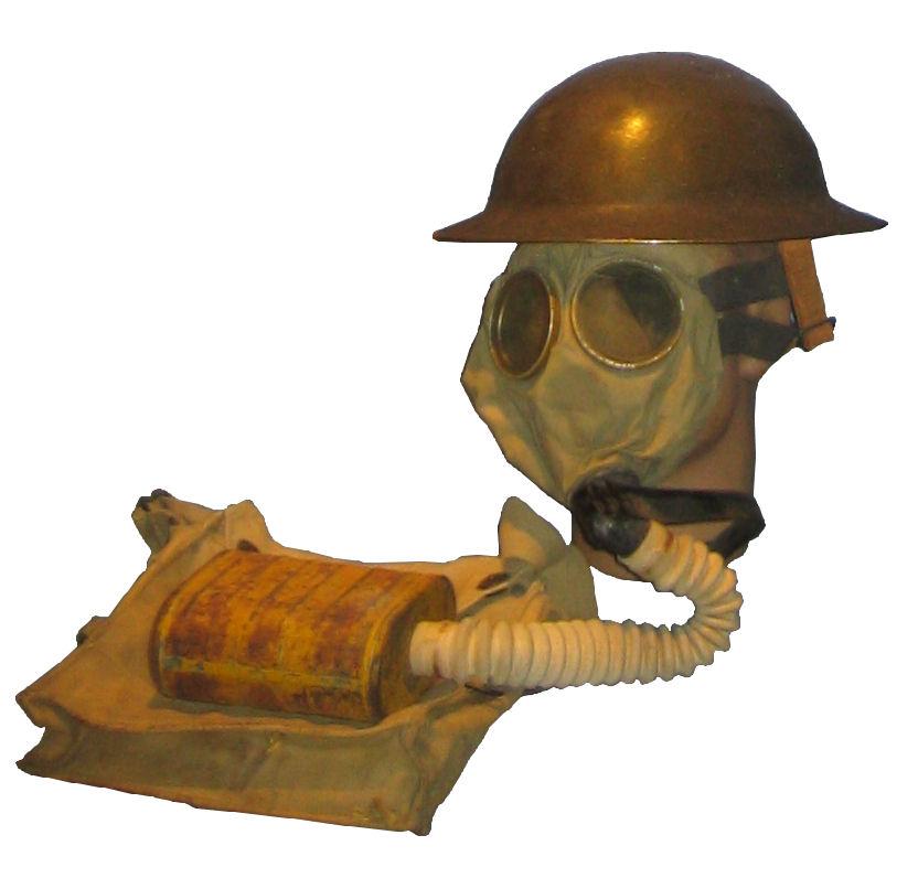 amerykańska maska przeciwgazowa z I Wojny Swiatowej