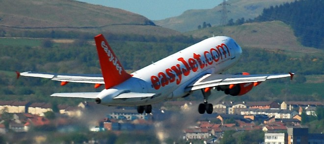 Easy Jet taking off