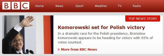 BBC top news