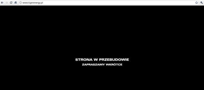 tigerenergry.pl strona w przebudowie