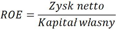 ROE, stopa zwrotu na kapitale, zyskowność kapitału, rentowność kapitału