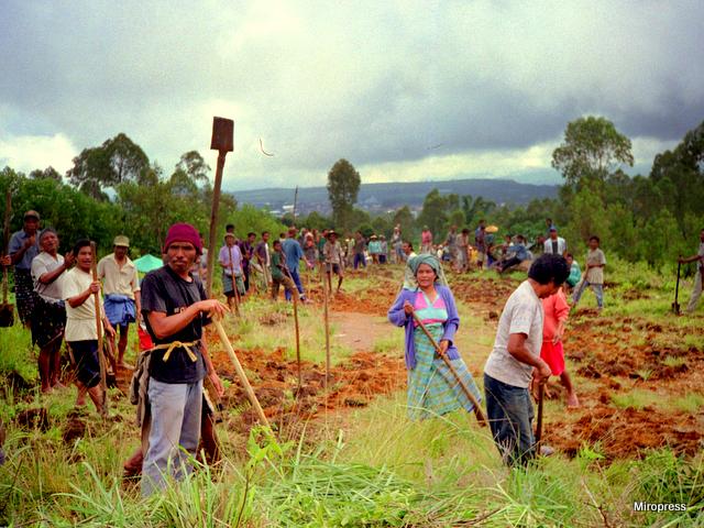 Budowa drogi na Flores w Indonezji