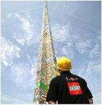Największa wieża z klocków lego
