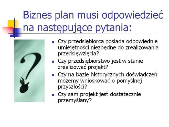 Pytania do biznes planu