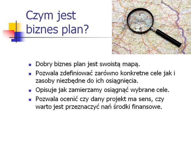 Czym jest biznes plan