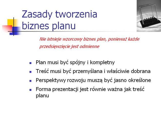 Biznes plan - zasady tworzenia