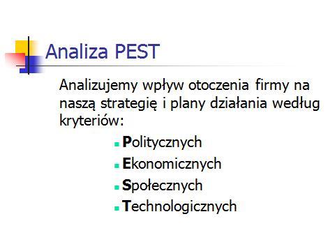 Analiza PEST