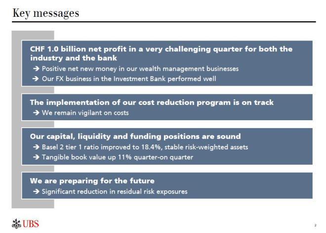 UBS 3Q2011 key messages - kluczowe komunikaty