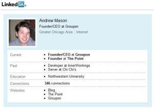 Andrew Mason - profil na LinkedIn