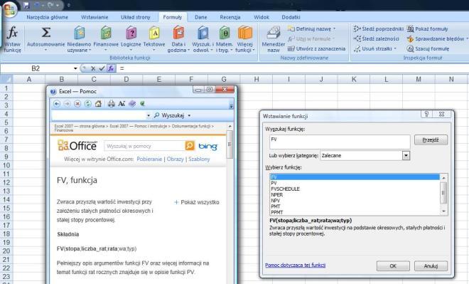 wartość przyszła w Excelu FV