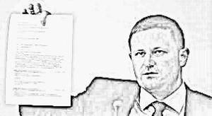 Marcin Plichta na konferencji prasowej