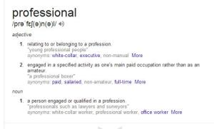profesjonalny