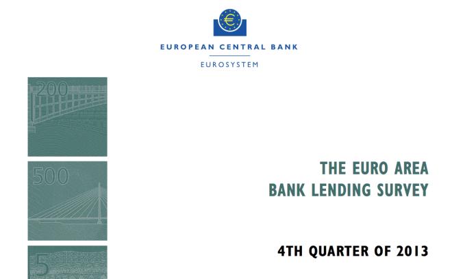 ECB European Credit Market 4q2013