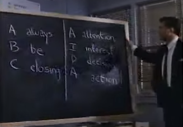 ABC - Always Be Closing, AIDA - Attention, Interest, Decision, Action