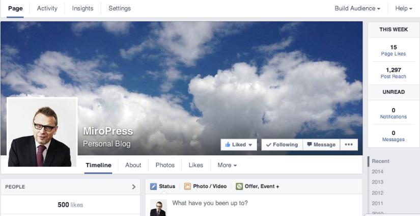 500 fanów na FB