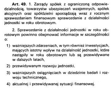 Art 49 ustawy o rachunkowości w oryginalnym brzmieniu z 1994 roku