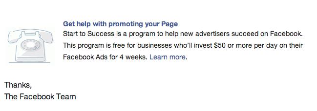 FB pomoc dla reklamodawców