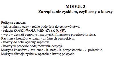 Program modul 3 ZFP 1994